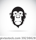 Vector of a monkey face design. Animal. 39236628