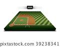 Realistic Denim of Baseball field 3d 39238341