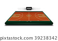 Realistic Denim of Basketball field 3d 39238342