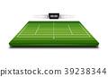 Realistic Denim of Tennis field 3d 39238344