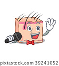 Singing skin mascot cartoon style 39241052