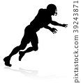 American Football Player Silhouette 39243871