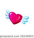 vector, wing, heart 39246955