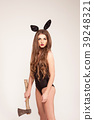 Sexy girl in combination and rabbit-ears on her 39248321