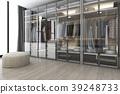 white wood walk in closet with wardrobe 39248733