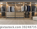 white wood walk in closet with wardrobe 39248735