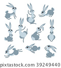 rabbit, vector, cute 39249440
