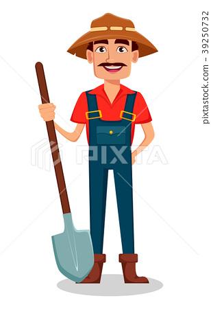 Farmer cartoon character 39250732