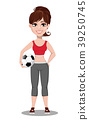 Beautiful woman in sport outfit. 39250745