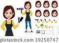 Hairdresser woman in professional uniform 39250747