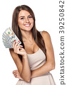 Woman with us dollar money 39250842