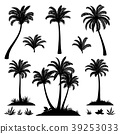 Palm Trees and Plants Silhouettes 39253033