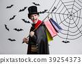 Vampire Halloween Concept - Happy handsome 39254373