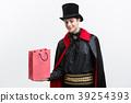Vampire Halloween Concept - Happy handsome 39254393