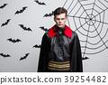 Vampire Halloween Concept - Portrait of Angry 39254482