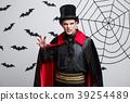 Vampire Halloween Concept - Portrait of Angry 39254489