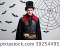 Vampire Halloween Concept - Portrait of Angry 39254495