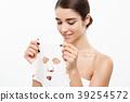Beauty Skin Care Concept - Beautiful Caucasian 39254572