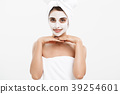 Beauty Skin Care Concept - Beautiful Caucasian 39254601