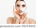 Beauty Skin Care Concept - Beautiful Caucasian 39254642