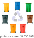 Different recycling garbage waste types sorting 39255269