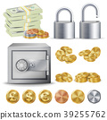 Finance Secure Concept Vector. Gold, Silver 39255762