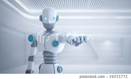 Robot finger pointing, artificial intelligence 39255772