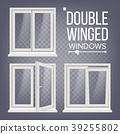 PVC Window Vector. Double-Winged. Opened And 39255802