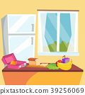 Kitchen Cartoon Vector. Classic Home Dining Room 39256069