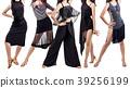 Set of young dancer woman in beautiful ballroom 39256199
