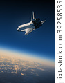 Space Shuttle Landing In The Blue Sky 39258535