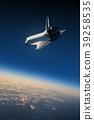 Space Shuttle Landing In The Blue Sky 39258535