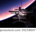 Space Station Orbiting Blue Planet 39258607