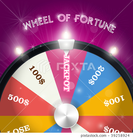 Wheel of fortune - jackpot  sector, lottery win  39258924