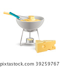 Cheese Fondue Realistic Composition 39259767