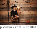 Halloween Witch concept - Full-length shot of 39261044