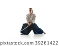The young man are training Aikido at studio 39261422