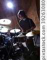 Rock and roll drummer 39263080