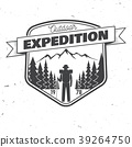 Outdoor expedition badge. Vector illustration. 39264750