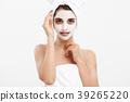 Beauty Skin Care Concept - Beautiful Caucasian 39265220