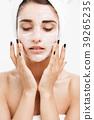 Beauty Skin Care Concept - Beautiful Caucasian 39265235