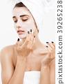 Beauty Skin Care Concept - Beautiful Caucasian 39265238