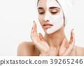 Beauty Skin Care Concept - Beautiful Caucasian 39265246