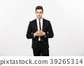 Business Concept - Portrait Handsome Business man 39265314