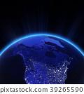 Canada and north USA city lights at night 3d 39265590