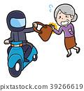遇见抢夺的祖母的例证 39266619