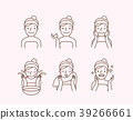 Step of Washing face illustration vector 39266661
