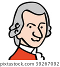 mozart face drawing 39267092