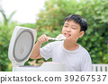 Asian boy and rice cooker 39267537