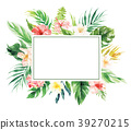 Flower border with rectangle blank area wedding de 39270215